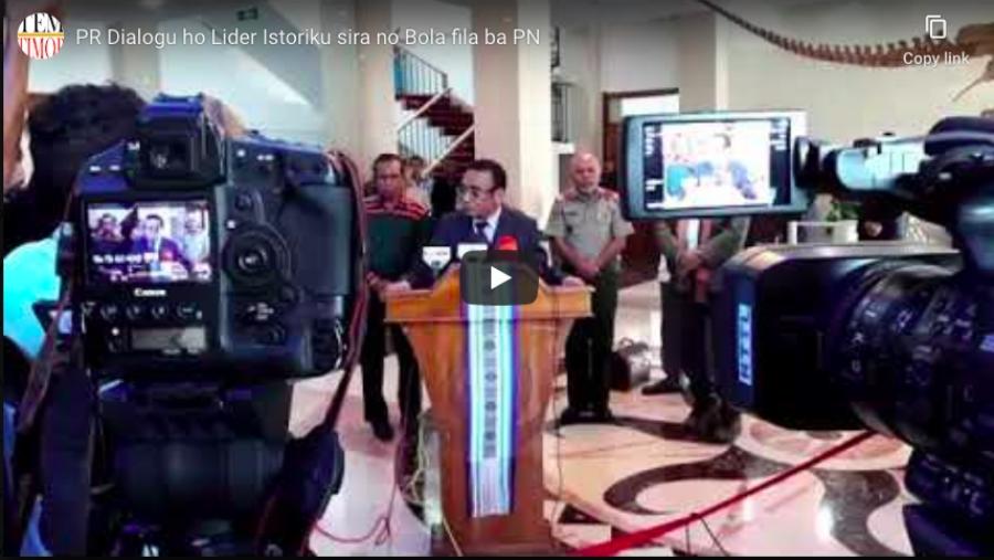 PR Dialogu ho Lider Istoriku sira no Bola Duir fila ba PN