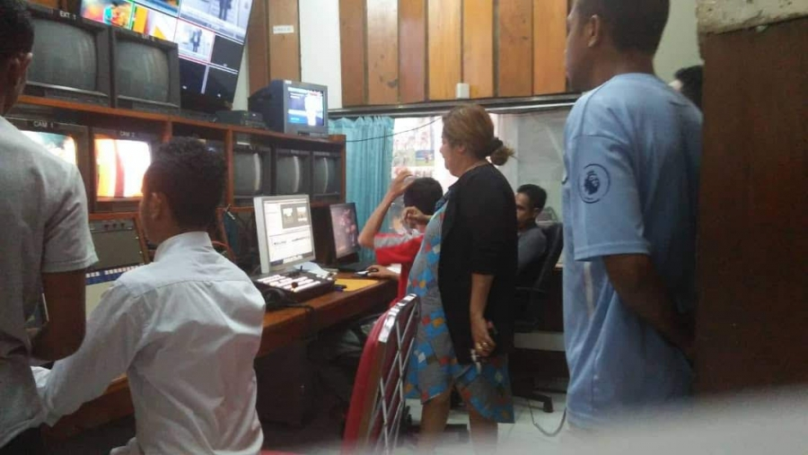 One of the President RTTL. EP under her duty in the news room