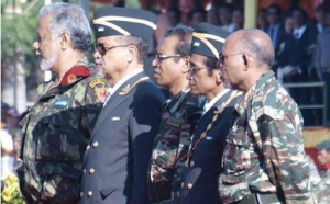 East Timor Hero for Independence (from Left to right) Kay Rala Xanana Gusmao, Ma Huno, Taur Matan Ruak, Lu Olo and Lere Anan Timur in national veteran day
