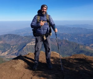 Ben Whiley an Australia ADF Veteran, on the top of Mount Ramelau the highest East Timor Mountain
