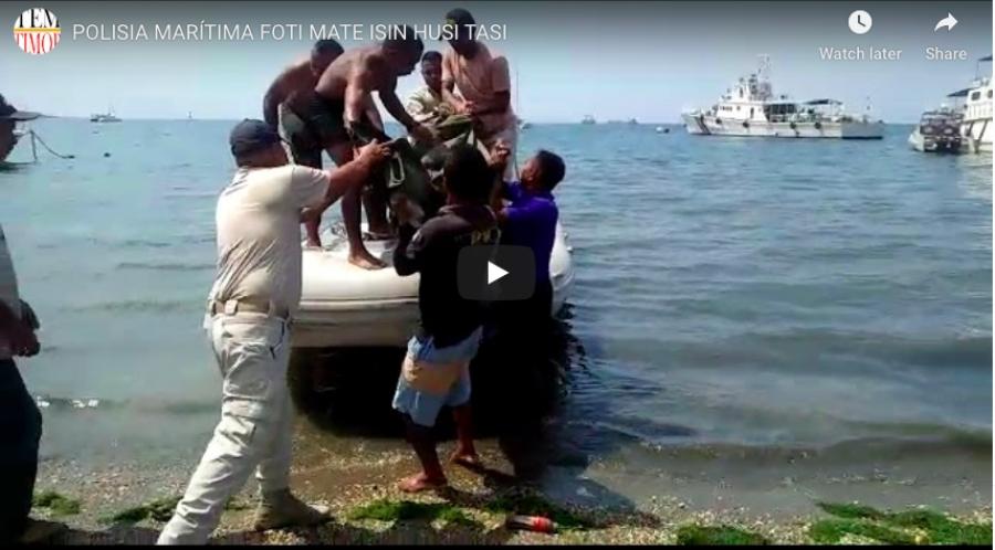 Polisia Marítima Foti Mate Isin husi Tasi