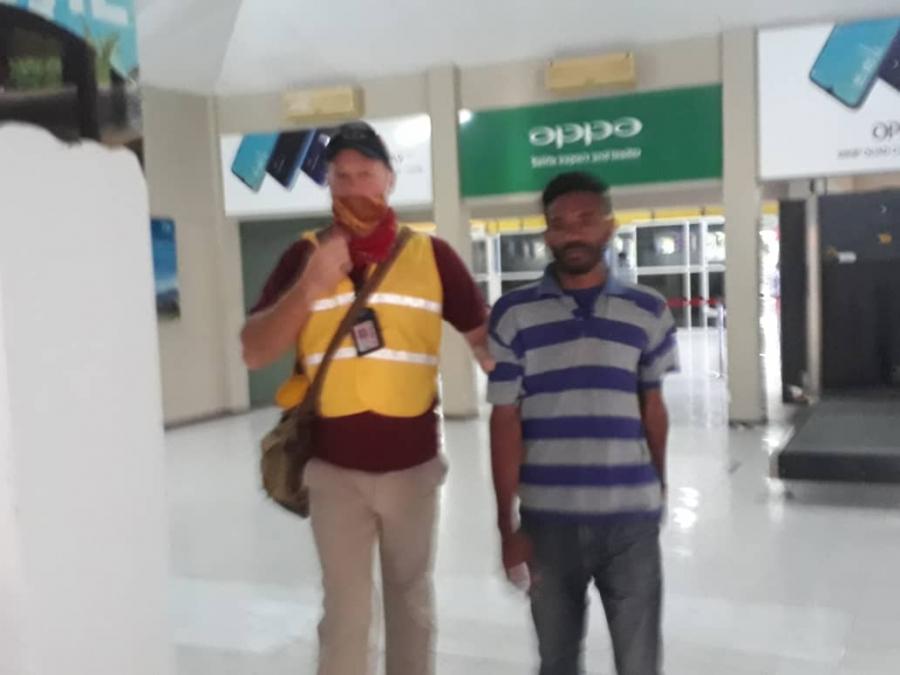 Ema Ermera Halai Tama tan Aeroportu Komoro