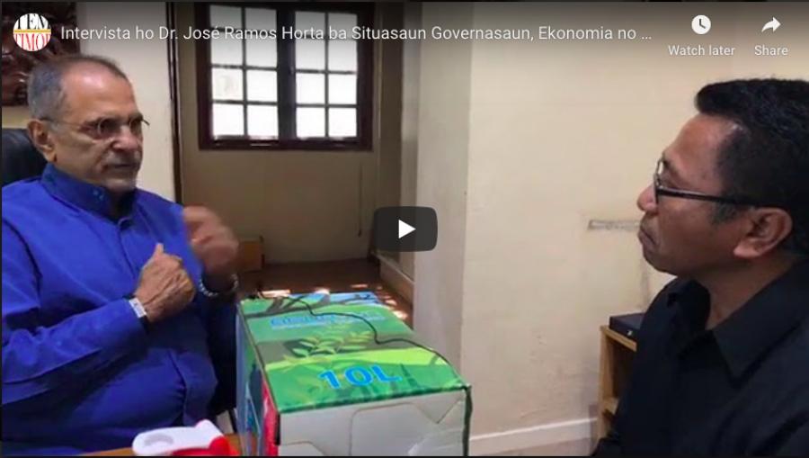 Intervista ho Dr. José Ramos Horta ba Situasaun Governasaun, Ekonomia no Politika Nasaun nian