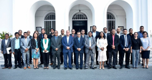 Member of VIII Constitutional Government under PM Taur Matan Ruak Photo in front of Government Palace in Dili