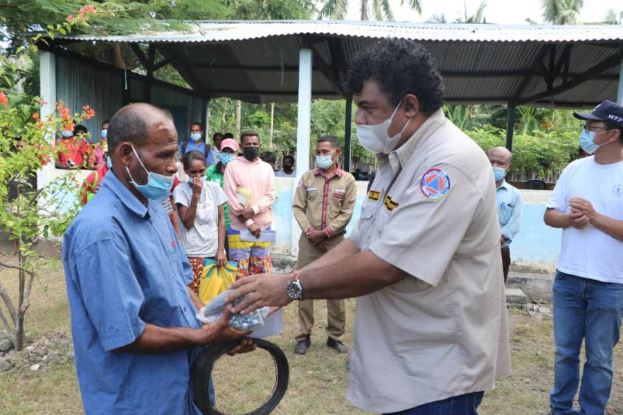 SEPS Apoiu Vítima Dezastre Naturál 48 iha Ataúro